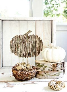 DIY Wood Stick Pumpkin - Easy Decorating Ideas Projects For Fall, Fun DIY Projects To Try This Fall, DIY Fall Crafts Ideas - Fall Decorating Projects - Centerpieces, Wall Decor, Pumpkin Art and Fall Wreaths Easy Fall Crafts, Diy Crafts, Holiday Crafts, Thistlewood Farms, Pumpkin Decorating, Fall Decorating, Diy Pumpkin, Pumpkin Spice, Fall Projects