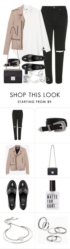 """""""Outfit for work in autumn"""" by ferned ❤ liked on Polyvore featuring Topshop, ASOS, Yves Saint Laurent, Dolce&Gabbana, Michael Kors and MANGO"""