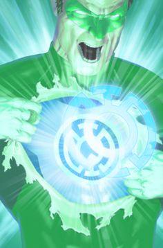 Green Lantern Succumbing to the White Lantern's Power