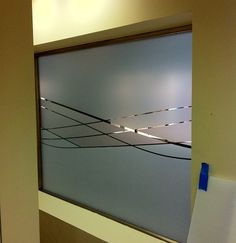 Wells Fargo Conference Room Wall Graphic Etched Glass
