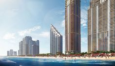 """Transactions are underway at the Mansions at Acqualina, which marks the new condominium tower to be completed in South Florida since Check out our for photos of the stunning """"mansions-in-the-sky""""! Sunny Isles Beach, Condos For Sale, White Sand Beach, Condominium, South Florida, Luxury Real Estate, San Francisco Skyline, Terrace, Skyscraper"""