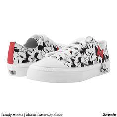 Trendy Minnie   Classic Pattern. Disney. Producto disponible en tienda Zazzle. Calzado, moda. Product available in Zazzle store. Footwear, fashion. Regalos, Gifts. Link to product: http://www.zazzle.com/trendy_minnie_classic_pattern_printed_shoes-256449253824402647?CMPN=shareicon&lang=en&social=true&rf=238167879144476949 #zapatillas #shoes #disney