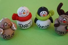 Personalized Clay Christmas Ornaments