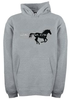Live Laugh Ride Hoodie | ChickSaddlery.com