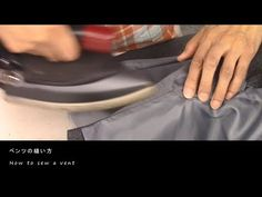 (8) How to sew a vent - fully-lined - Jacket tutorial - YouTube