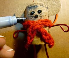 Make it easy crafts: Recycled Wine cork Mouse ornament tutorial