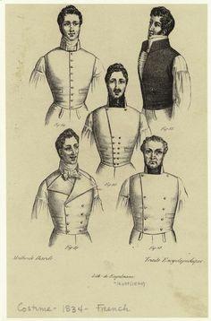 [Vests, France, 1830s.] (1834)