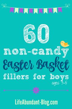 60 Non-Candy Easter Basket Fillers for Boys