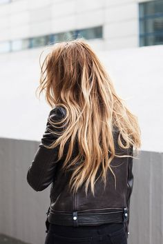 Natural hair. Messy and free