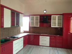The maximum time of women is spent in the kitchen. Building A Kitchen, Bedroom Bed Design, Kitchen Gallery, Kitchen Design, Kitchen Cabinets, Home Decor, Decoration Home, Kitchen Photos, Design Of Kitchen