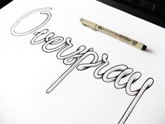 5 overspray hand drawn typography micron sketch logo texture