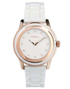 Breil White Watch With Rose Gold Detail