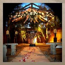Gazebo wedding package - $359 includes ceremony, limo, bouquet for you and Boutonniere for Groom, unity candle, first dance, 14 photos. Seating for 18 people.