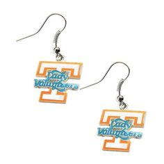 Tennessee Volunteers Lady Vols Dangle Logo Earring Set Charm Gift by aminco. Tennessee Volunteers Lady Vols Dangle Logo Earring Set Charm Gift.