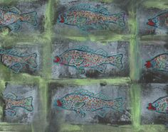 Fishes go by   art by Juanita Dias Costa