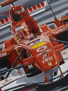 """Colin Carter :""""After a great victory at the 2006 Italian GP at Monza, in front of the loyal 'tifosi', Michael Schumacher announced his retirement from F1"""