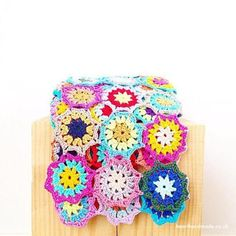Colourful crochet bl