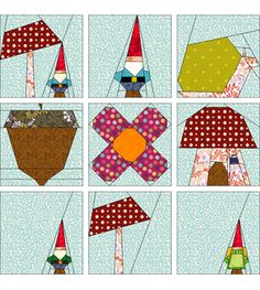 Gnomes paper piecing designs free from EQ