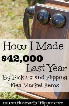 This is so awesome for anyone who loves to frequent flea markets, yard sales, and thrift stores!! How great to make an extra income with something fun like this!