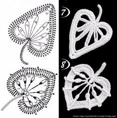 Crochet Patterns Lace A small sheet for Irish crochet lace and accessories. Crochet Bolero Pattern, Crochet Leaf Patterns, Crochet Symbols, Crochet Leaves, Crochet Motifs, Freeform Crochet, Crochet Designs, Crochet Flowers, Irish Crochet Charts