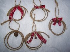 Country Western Cowboy Mini Lariat Christmas Tree Ornaments Look Really  Cute With Lodge Decorations Also Since These Are Handmade They Range In  Size From ...