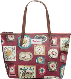 Cath Kidston Clocks Small Leather Trim Tote on shopstyle.co.uk Cath Kidston Bags, Key Chain Holder, Pvc Coat, Leather Keychain, New Bag, Clocks, Cleaning Wipes, Cotton Canvas, Wallet