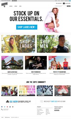 "Soffe Website - ""WebSphere Commerce made"" #webspherecommercemade #ecommerce"