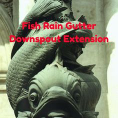 Fish Rain Gutter Downspout Extension Rain Fish And