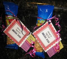 """**PLEASE REPIN**   Day 52 of 365 Days of Kindness - I challenge everyone to give someone a bag of peanuts that says 'Jesus is """"NUTS"""" about you!' You can print the NUTS tags off the blog and the 365 Days of Kindness card The purpose of printing the cards is that the recipient can then recycle it and pass the card on by doing another random act of kindness. My vision is that this will continue and continue until EVERYONE is involved in some capacity. Who's in?"""