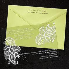 clear paisley wedding invitation #paisleyweddinginvitations #weddinginvitations #clearweddinginvitations