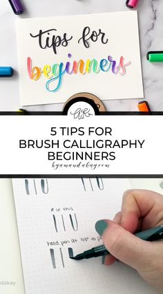 Here are 5 brush calligraphy tips for beginners that will help you master the art of hand lettering and modern calligraphy! Brush Lettering Worksheet, Chalk Lettering, Doodle Lettering, Typography, Stencil Painting, Painting Tips, Improve Your Handwriting, Hand Lettering Tutorial, Letter Stencils