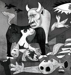 Vladimir Putin como o touro