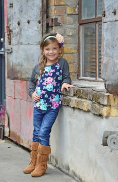 Boutique, Ryleigh Rue, Top, Floral top, long sleeve top, fashion, online shopping, online boutique, kids clothing