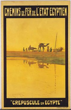 Twilight in  Egypt  vintage poster 70035