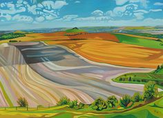 Anna Dillon the Artist - Painting of Wiltshire Plains