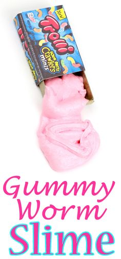 diy slime_miniature candy gummy worm slime