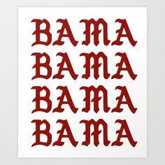 University of Alabama Art Print by carolinepvoigt - X-Small College Shirts, Beer Pong Tables, University Of Alabama, Alabama Football, Red Aesthetic, Alabama Crimson Tide, Roll Tide, Cornhole, Diy Shirt