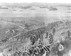 French troops landing on Lemnos 1915.