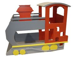 train beds red grey