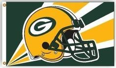 Green Bay Packers 3'X5' Helmet Design Flag by Hall of Fame Memorabilia. $40.95. This High Quality Flag Is Constructed Of Polyester And Is 3ÆX5Æ In Size. The Design Is Viewable From Both Sides, With The Back Side Being A Reverse Image. The Flag Has Two Metal Grommets For Attaching To A Flag Pole. It's Also Perfect To Use As A Wall Hanging For Your Rec Room, Office, Den Or Any Other Room. Made By Fremont Die.Images Shown May Differ From The Actual Product.
