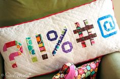 FREE Punctuation and Number Quilt Blocks designed to go along with the Spell It with Moda Quilt Along Pattern Blocks, Quilt Patterns, Sewing Patterns, Block Patterns, Number Patterns, Alphabet Quilt, Cute Alphabet, Alphabet Blocks, Quilting Projects