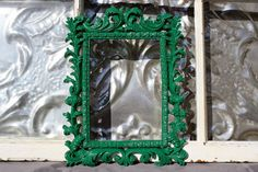 Ornate Picture Frame Emerald Green 5 x 7 by MichelleLisaTreasure