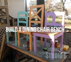A Collection of DIY Plans to Build Dining Chairs_Dining Chair Bench