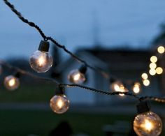 26.5 foot string of round lights, with 25 bulbs for approx $45.00