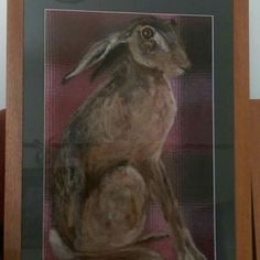 Recently sold large hare portrait.