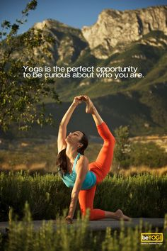 Yoga is the perfect opportunity to be curious about who you are. <3