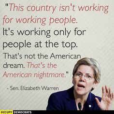 I look forward to voting for Elizabeth Warren as the First Woman President...Her message here says to Vote for Bernie Sanders who fights for working people...while Hillary favors her corporate sponsors on Wall St. regulations, GMO labeling, Fracking, Private Prisons.......