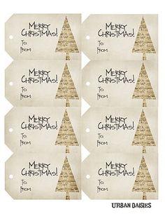Free Gift Tags Printables ~ Merry Christmas!