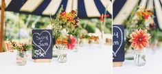 Chalk boards and flowers