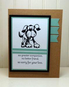 Stampin Up Pet Sympathy, Loss of Dog, Hot Diggity Dog, Handmade Card by StampinINK